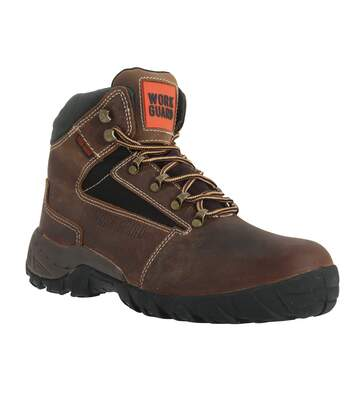 Result Mens Work-Guard Carrick Lace Up S1P Safety Boots (Brown) - UTPC2600