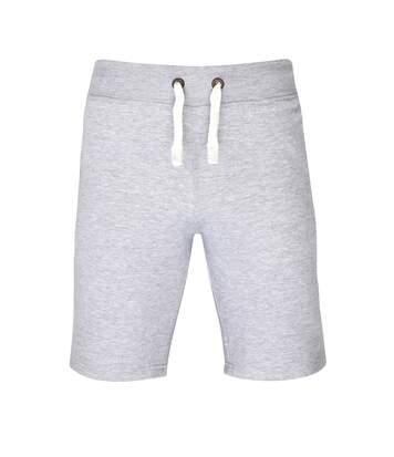 AWDis Hoods Plain Heavyweight Campus Shorts (Heather Grey) - UTRW2549