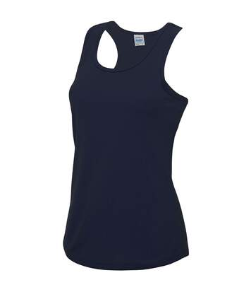 Just Cool Girlie Fit Sports Ladies Vest / Tank Top (Sapphire Blue) - UTRW688