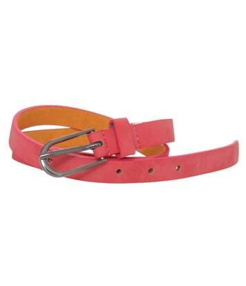 Forest Womens/Ladies Simple Leather Belt (Black) - UTBL175