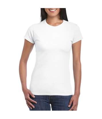 Gildan - T-Shirt À Manches Courtes - Femme (Blanc) - UTBC486