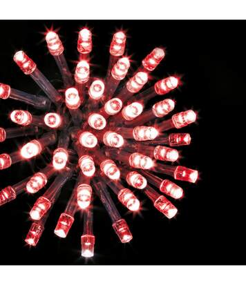 Feeric Christmas - Guirlande Lumineuse Intérieure et Extérieure 10 m 100 LED Rouge et 8 jeux de lumière