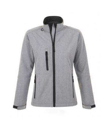 SOLS Womens/Ladies Roxy Soft Shell Jacket (Breathable, Windproof And Water Resistant) (Grey Marl) - UTPC348