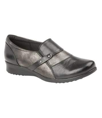 Boulevard - Chaussures confort à enfiler - Femme (Noir / bronze) - UTDF1488