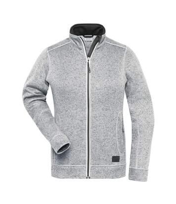 Veste zippée polaire workwear - femme - JN897 - blanc mélange