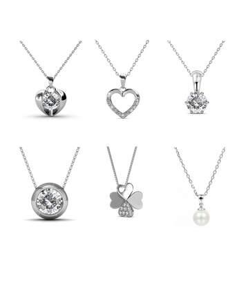 Calendrier Coeur Coffret Cadeaux Cœur - 14 Bijoux - Finition Argentée