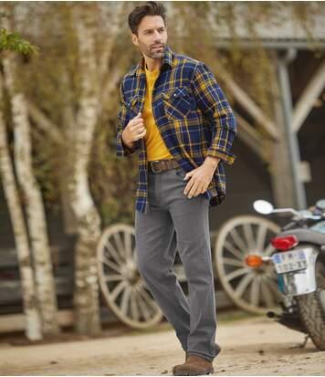 Zestaw 2 par niebieskich i szarych jeansów Regular ze stretchem