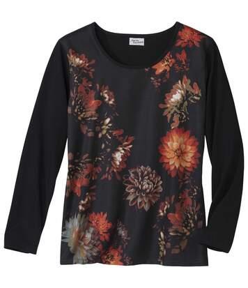 Tričko Dahlias zkombinovaného materiálu