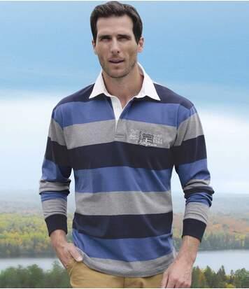 Pruhované polo tričko Rugby