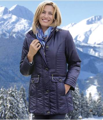 Womens Blue Padded Jacket