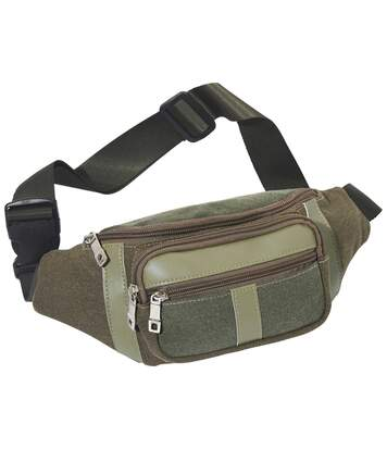 Men's Multi-Pocket Bumbag - Khaki Taupe