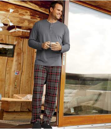 Men's Grey Pyjama Set