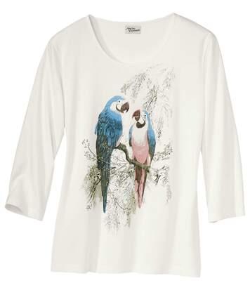 Longsleeve mit Papagei-Motiv
