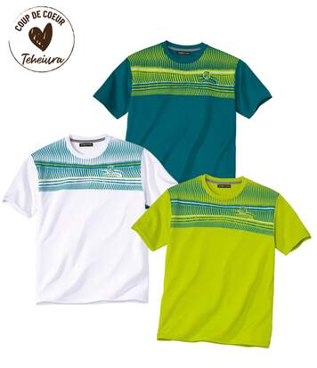 Lot de 3 Tee-Shirts Polyester Summer Sport