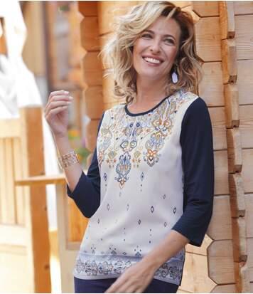 Блуза из Хлопка и Атласа фото