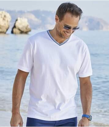 Zestaw 3 jednokolorowych t-shirtów Ibiza