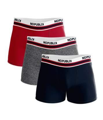 Lot de 3 boxers coton homme rétro