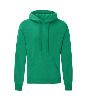 Fruit Of The Loom Mens Hooded Sweatshirt / Hoodie (Heather Green) - UTBC366
