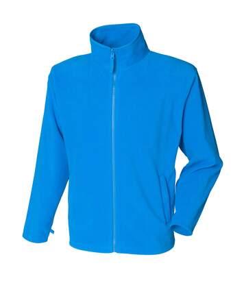 Henbury Mens Microfleece Anti-Pill Jacket (Vivid Blue) - UTRW678