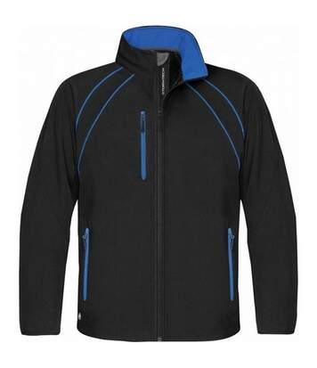 Stormtech Mens Crew Softshell Jacket (Black/Royal) - UTBC1169