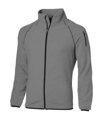 Slazenger Mens Drop Shot Full Zip Micro Fleece Jacket (Grey) - UTPF1795