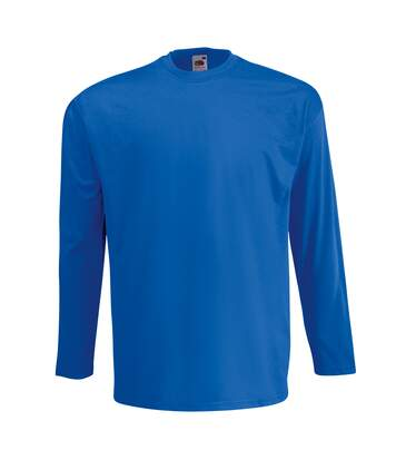 Fruit Of The Loom Mens Valueweight Crew Neck Long Sleeve T-Shirt (Royal) - UTBC331