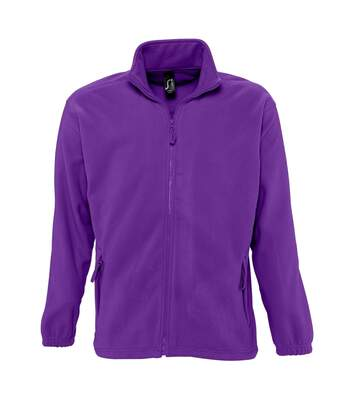 SOLS Mens North Full Zip Outdoor Fleece Jacket (Burgundy) - UTPC343
