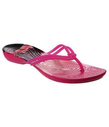 Crocs - Tongs Isabella - Femme (Rose / tropical) - UTFS5032
