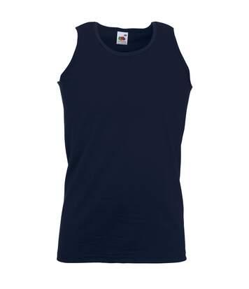 Fruit Of The Loom Mens Athletic Sleeveless Vest / Tank Top (Deep Navy) - UTBC341