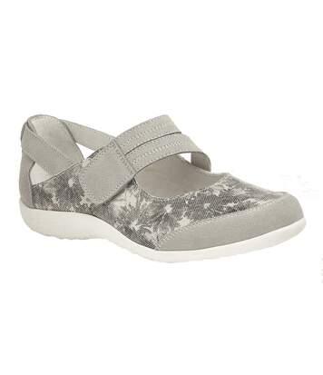 Boulevard - Chaussures En Daim, Ouvertes Et Plates - Femme (Gris) - UTDF1709