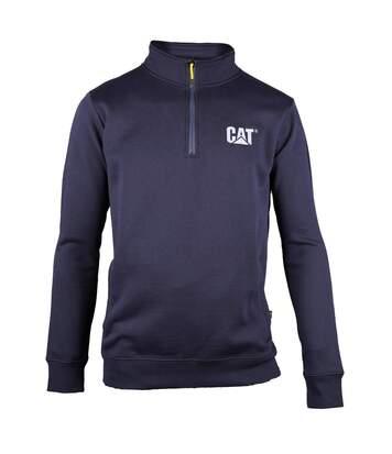 Caterpillar Mens Canyon 1/4 Zip Pullover (Navy) - UTFS3424