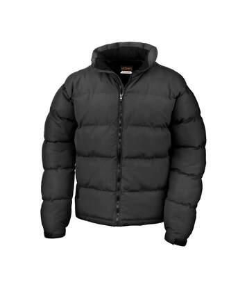 Result Mens Holkham Down Feel Water Repellent Jacket (Black) - UTBC888