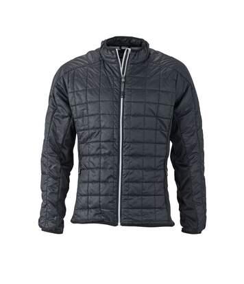Veste hybride molletonnée - JN1116 - noir - Doudoune Homme