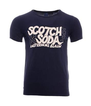 Graphic Artwork Homme Tee-Shirt Marine Scotch & Soda