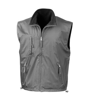 Result Mens Reversible Polar-Therm® Bodywarmer / Gilet (Slate Grey/ Black) - UTRW3231