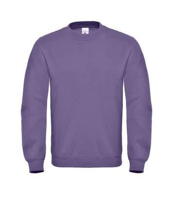 B&C Mens Crew Neck Sweatshirt Top (Fire Red) - UTBC1297