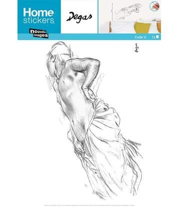 Sticker mural Homme nu couché - E. Degas