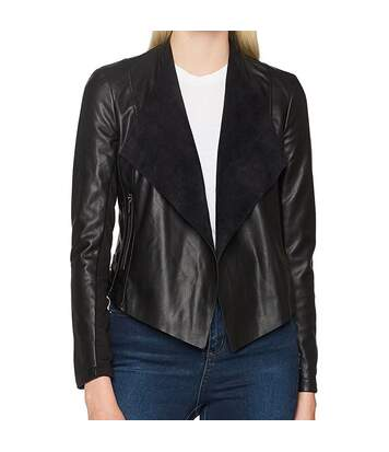 Veste en simili cuir noir femme French Connection Stephanie