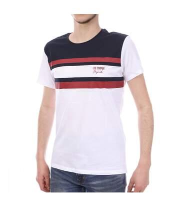 T-shirt Blanc, Bordeaux et Noir Homme Lee Cooper