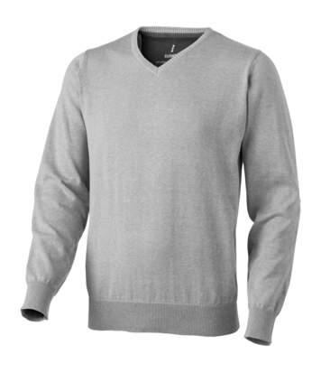 Elevate Mens Spruce V-Neck Jumper (Grey Melange) - UTPF1854
