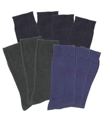 Lot de 10 paires de mi-chaussette bambou toucher soie