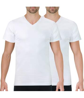 Lot de 2 Tee-shirts homme col V  Eco Pack