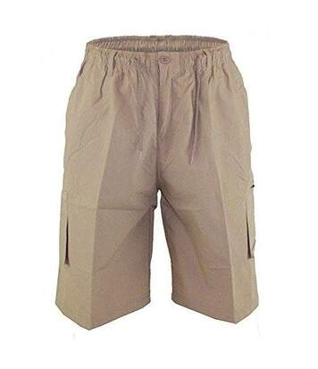 Duke Mens Nick-D555 Shaped Leg Cargo Shorts (Sand) - UTDC231