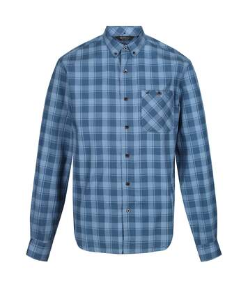 Regatta Great Outdoors Mens Lazare Long Sleeve Checked Shirt (Bayleaf) - UTRG4716