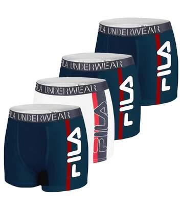 Lot de 4 Boxers Coton Homme FU5082 Uni