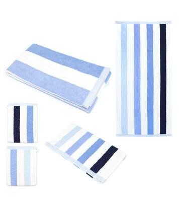 Parure de bain 5 pièces CLASSIC STRIPES Bleu 480 g/m2