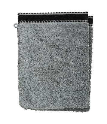 Atmosphera - Lot de 2 Gants de toilette Gris Foncé Tissu éponge 15 x 21 cm