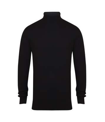 Henbury Mens Knitted Roll Neck Jumper (Black) - UTRW5288
