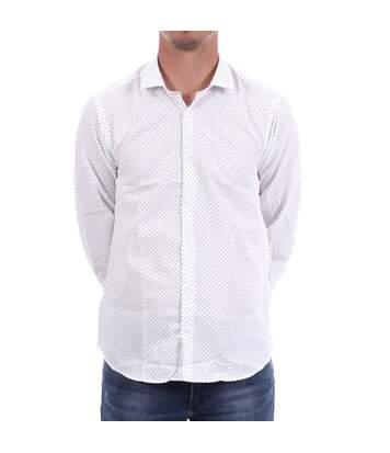 Chemise Blanche à pois noirs Homme Sinéquanone