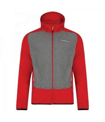 Dare2B Mens Creed Softshell Jacket (Orient Red/Traffic Black) - UTRG3591